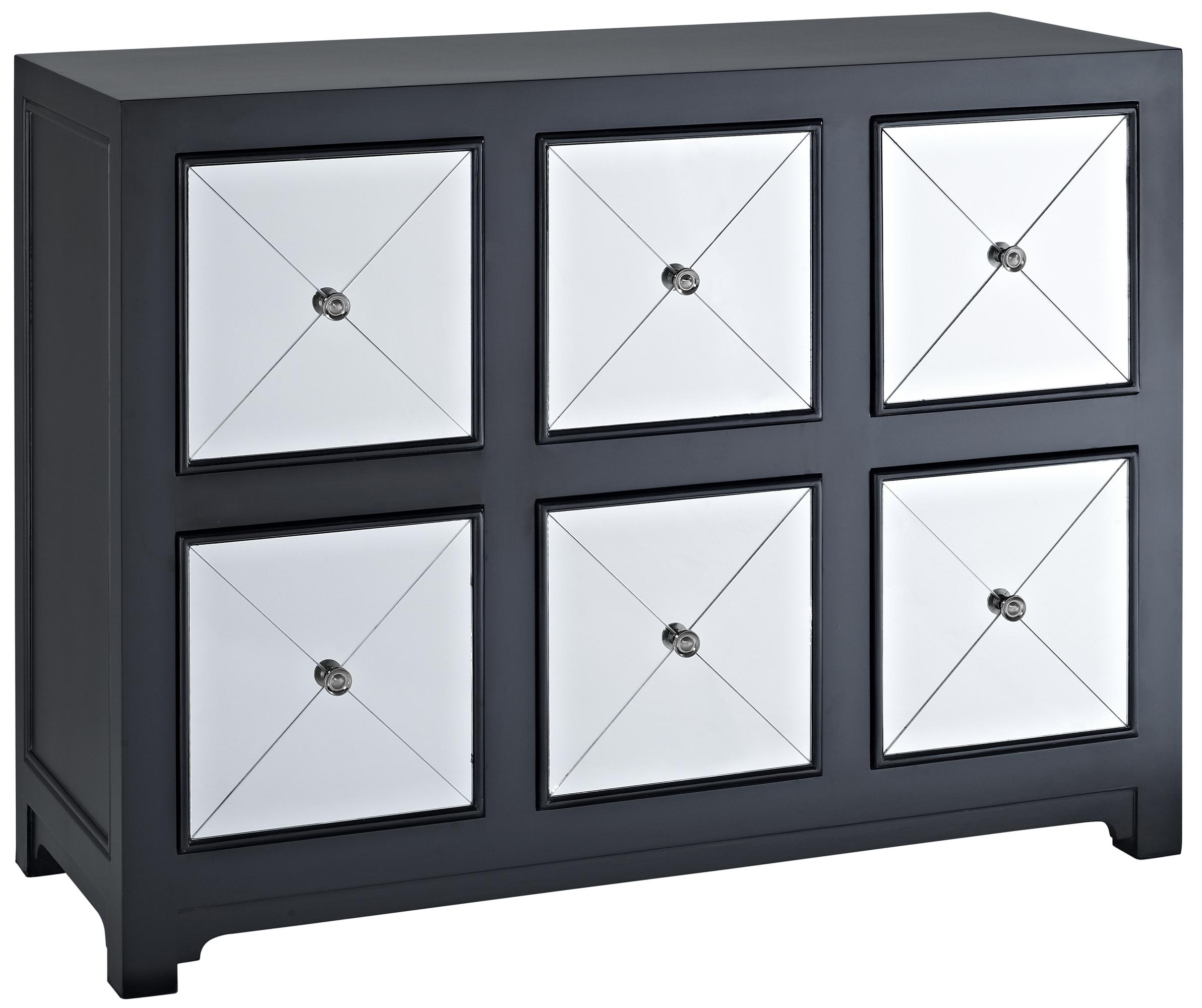 Powell Accents Mirrored Wood Console - Item Number: 233-660