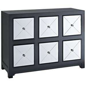 Powell Accents Mirrored Wood Console