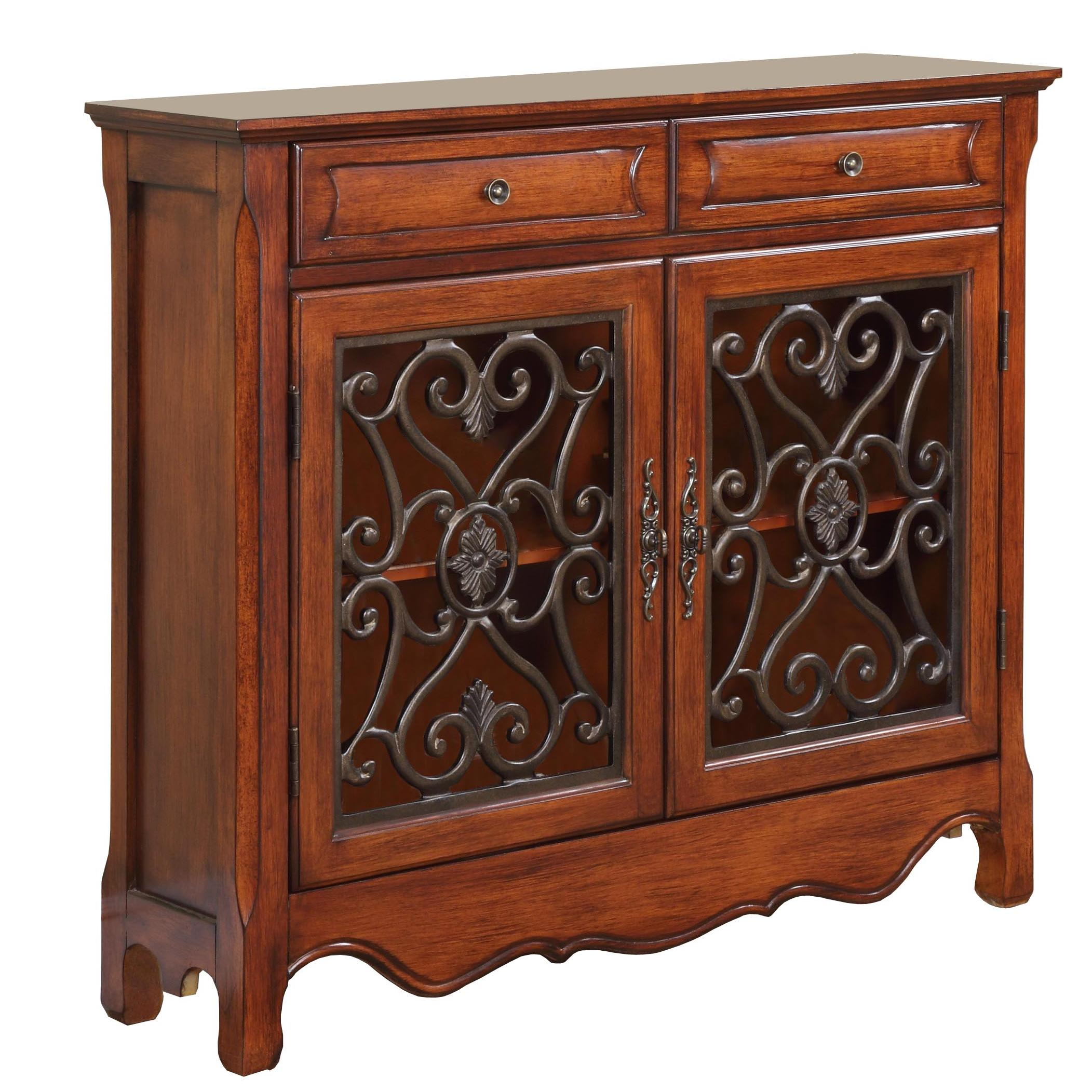 Powell Accents Light Cherry Console Cabinet - Item Number: 411-254