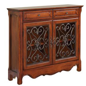 Powell Accents Light Cherry Console Cabinet