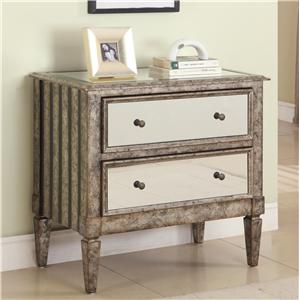 Powell Accents 2-Drawer Mirrored Chest