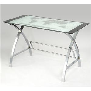 Powell Accent Furniture World Map Desk