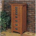 Powell Mission Oak Jewelry Armoire - Item Number: 255