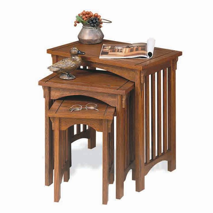 Powell Mission Oak 3-Piece Nested Tables  - Item Number: 359