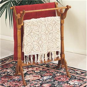 Powell Nostalgic Oak Blanket Rack