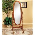 Powell Nostalgic Oak Cheval Mirror - Item Number: 979