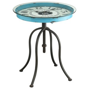 Round Clock End Table