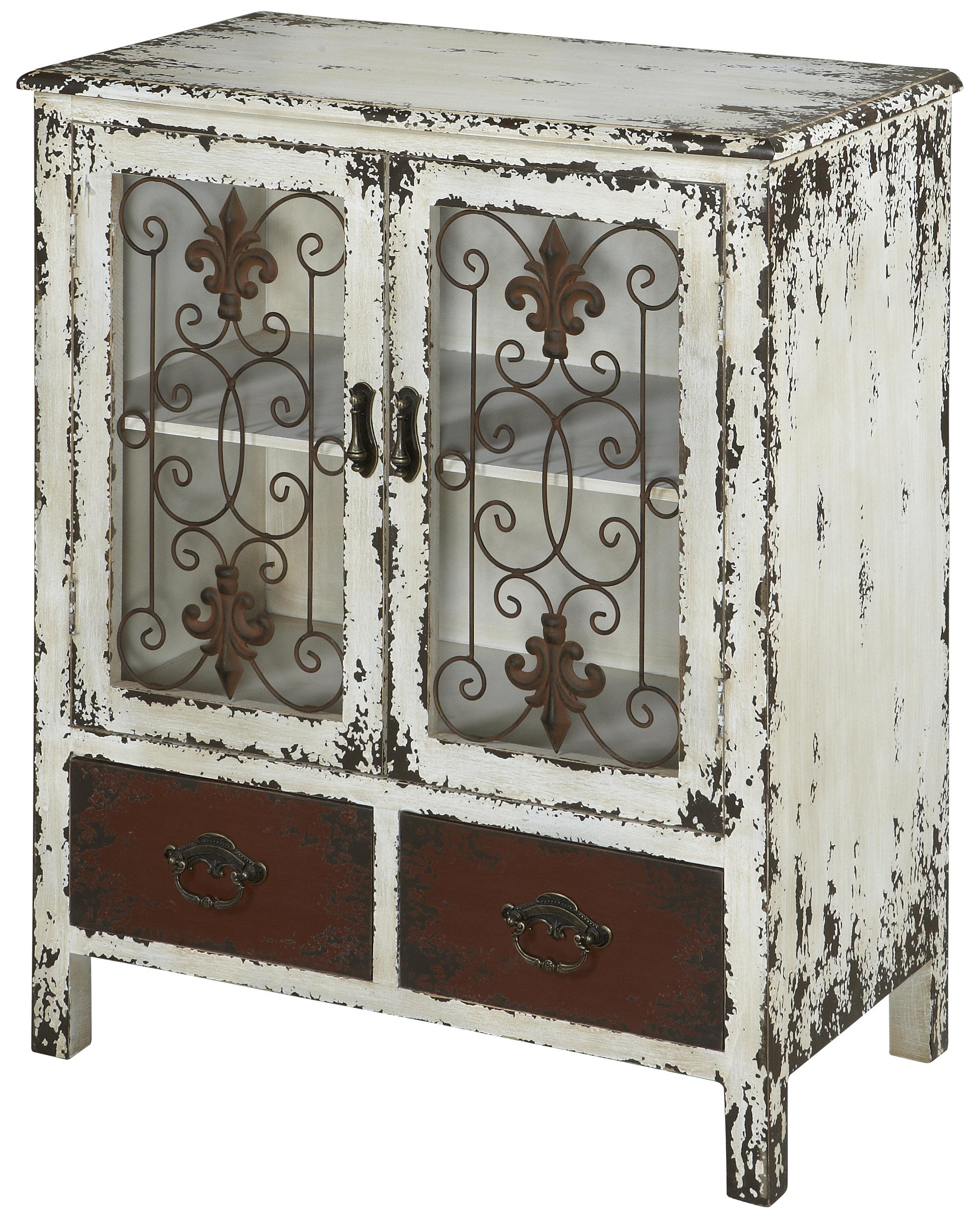 Powell Parcel 2 Door Console Cabinet with 2 Drawers - Item Number: 990-332