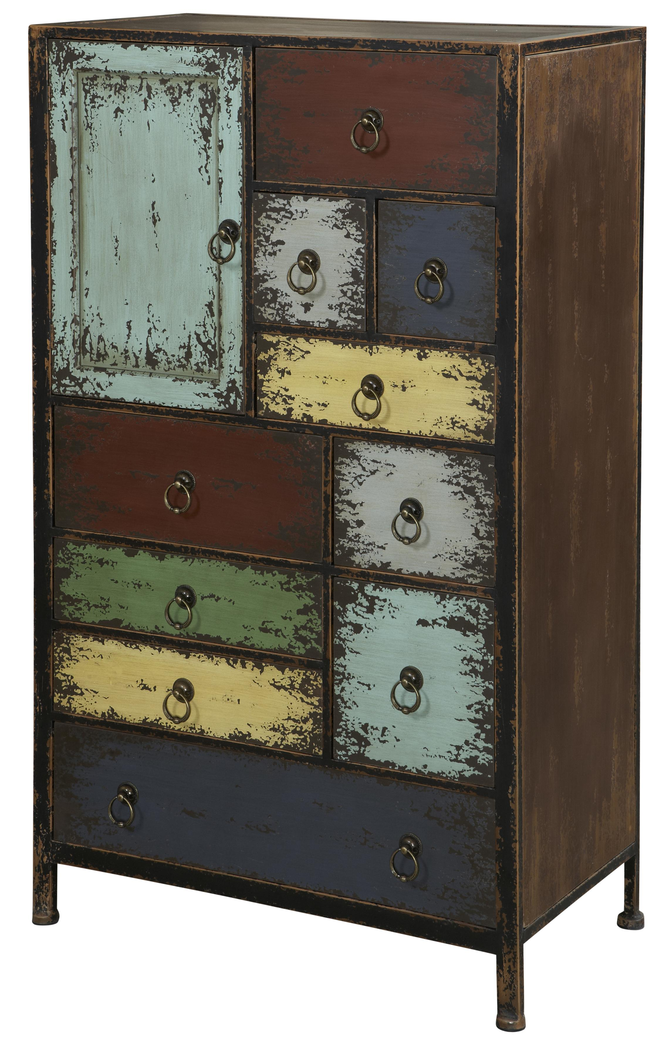 Powell Parcel 1 Door Accent Chest with 10 Drawers  - Item Number: 994-331