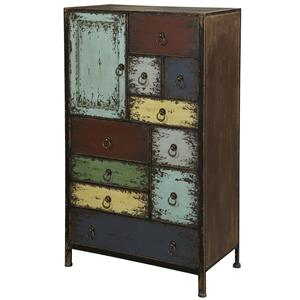 Powell Parcel 1 Door Accent Chest with 10 Drawers