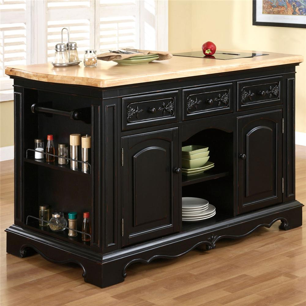 Kitchen Island Furniture: Powell Pennfield Kitchen Island With Three Drawers