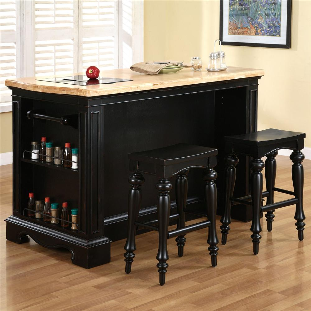 powell pennfield kitchen island with three drawers dunk powell pennfield kitchen island set amp reviews wayfair ca