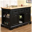 Powell Pennfield Kitchen Island with Three Drawers - 318-416