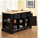 Powell Pennfield Kitchen Island with Three Drawers - 318-416 - Shown with Doors Open