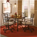 Powell Powell Cafe 5 Piece Jefferson Castered Dining Set