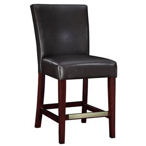 Powell Powell Cafe Brown Bonded Leather Counter Stool