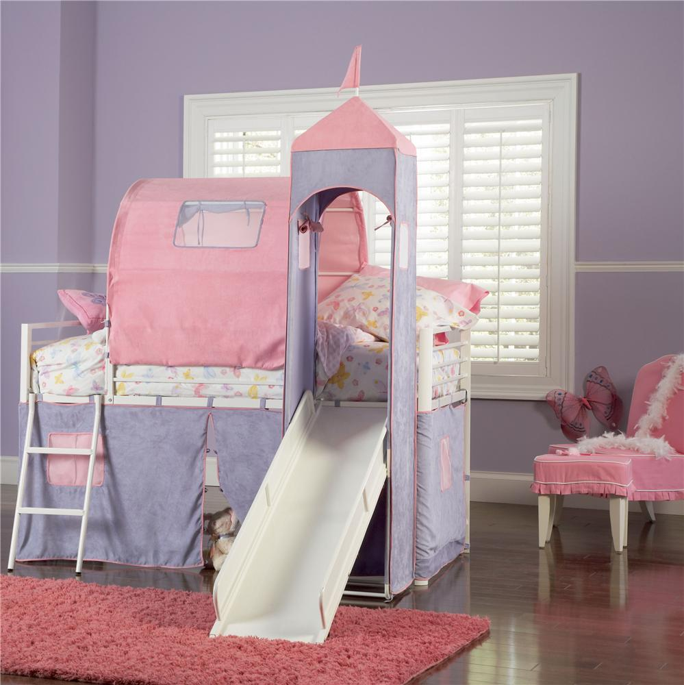 Design Princess Castle Bunk Bed powell princess castle twin bunk bed with tent and slide item number 374 069
