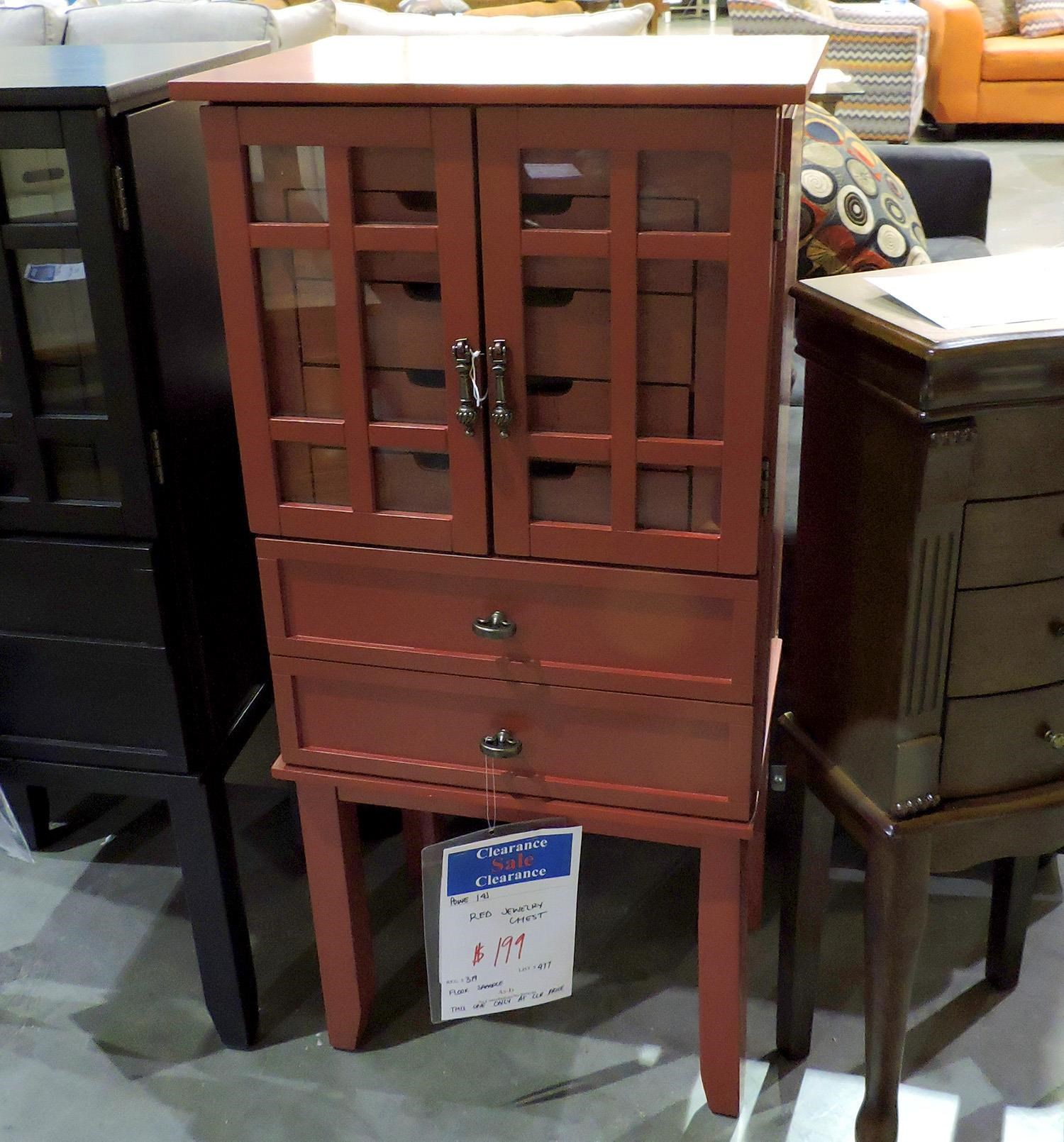 Powell     Red Jewelry Chest - Item Number: 388607516