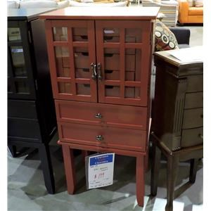 Powell     Red Jewelry Chest