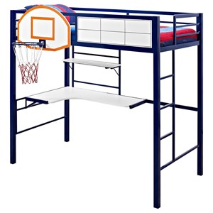 Powell Youth Beds and Bunks Hoops Basketball Twin Loft Bed