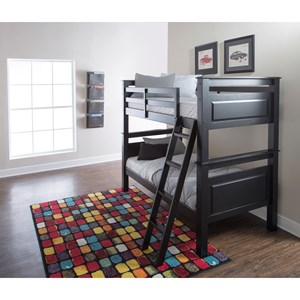Powell Youth Beds and Bunks Dixon Twin Over Twin Bunk Bed