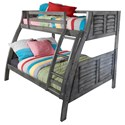 Powell Youth Beds and Bunks Twin/Full Bunk Bed - Item Number: 16Y8185BB