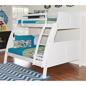 Powell Youth Beds and Bunks Easton White Bunk Bed
