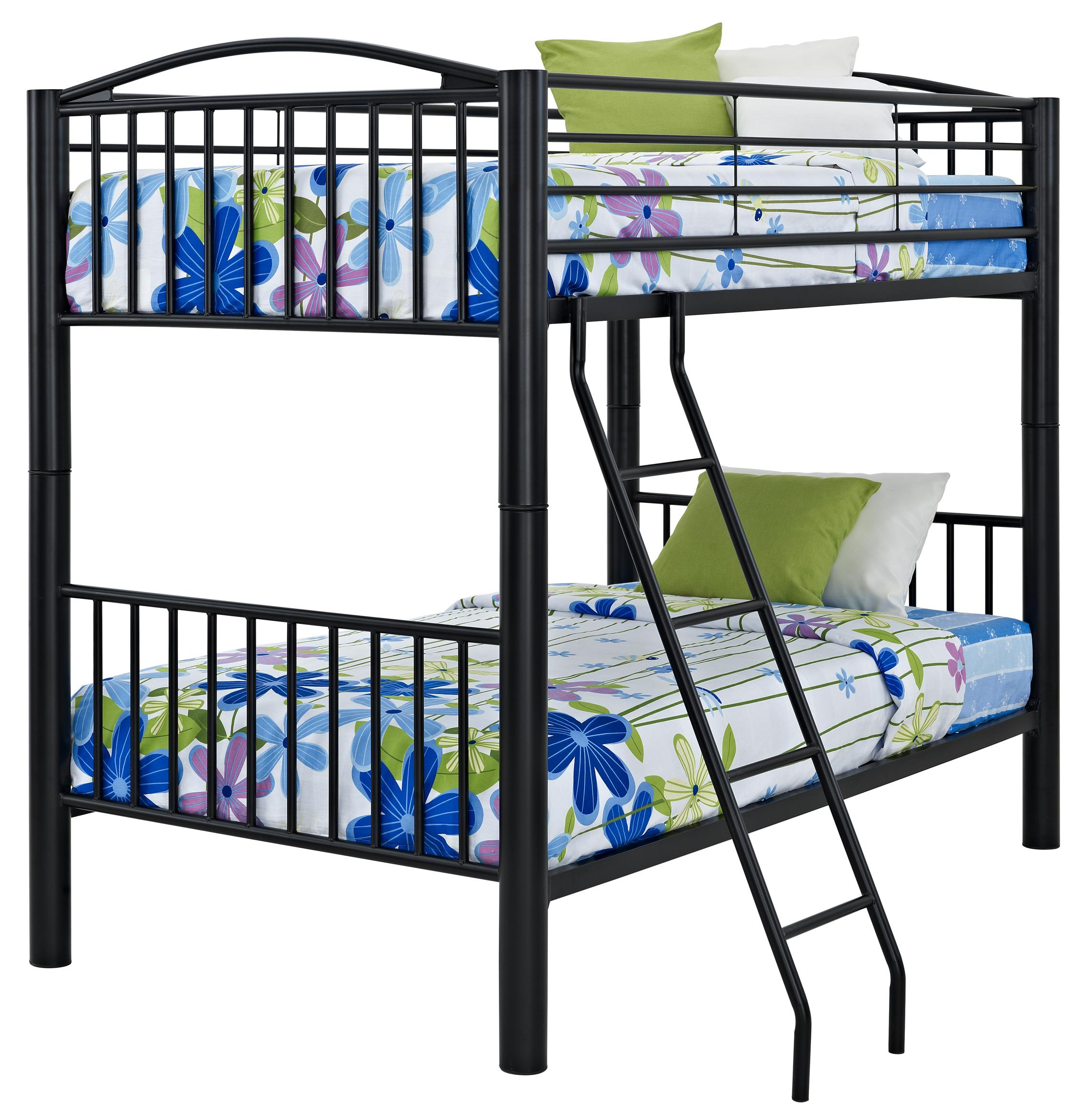Powell Youth Beds And Bunks Heavy Metal Twin Over Twin Bunk Bed