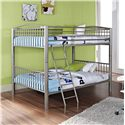 Powell Youth Beds and Bunks Heavy Metal Full Over Full Bunk Bed - 941-137 - Shown in Bedroom Setting