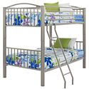 Powell Youth Beds and Bunks Twin Metal Bunk Bed - Item Number: 941-138