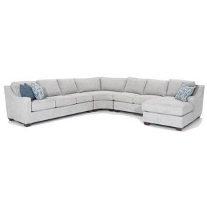 Four Piece Customizable Sectional with Chaise