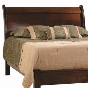 Rotmans Amish Huntington Shaker Queen Sleigh Headboard