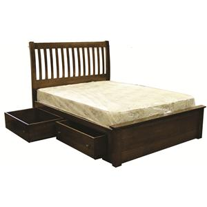 Rotmans Amish Huntington Shaker Queen Storage Slat Bed