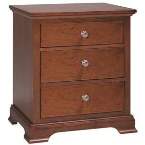 Premier Furnishings Princeton Solid Cherry 3-Drawer Nightstand