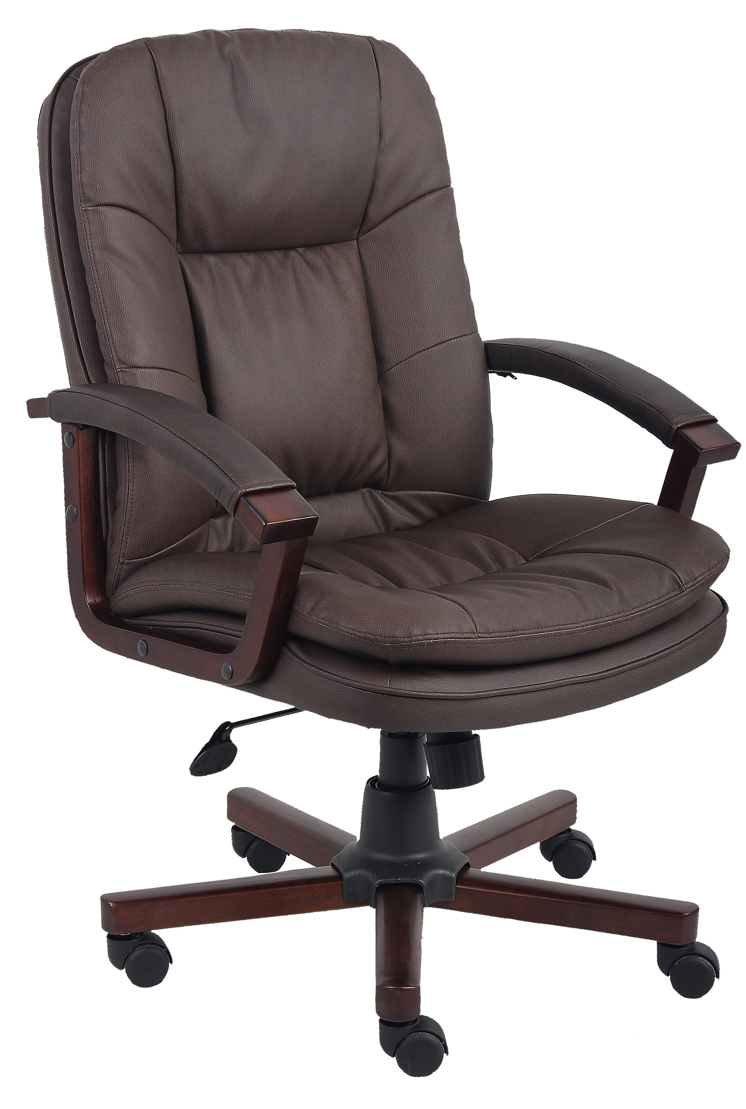Presidential Seating Executive Bomber Brown LeatherPlus Executive Chair - Item Number: O-796-VSBN
