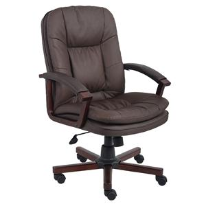 Presidential Seating Executive Chairs Bomber Brown LeatherPlus Executive Chair