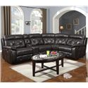 Prime Resources International 1660 Reclining Sectional - Item Number: 1660-050+057+054+096+051