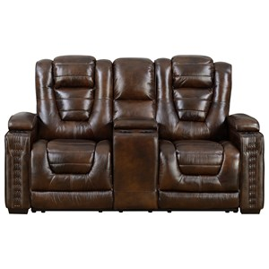 Big Chief Power Reclining Loveseat with Powered Headrests  by Prime Resources International