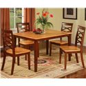Primo International 1552 Rectangular Dining Table - Shown with Triple X-Back Side Chairs