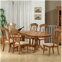 Primo International 1855 Dining Arm Chair With Fabric Upholstered Seat - Shown As A Set With Side Chairs and Table