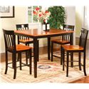 Primo International 2550 Two Tone Pub Table & Chairs - Item Number: 2550