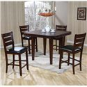 Primo International 4540 Gathering Height Table & Chairs - Item Number: 4540+4x4545