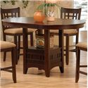 Primo International 4560 Counter Height Table with Upholstered Pub Height Chairs - Pub Table