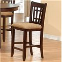 Primo International 4560 Counter Height Table with Upholstered Pub Height Chairs - Counter Height Pub Stool