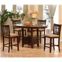Primo International 4560 Counter Height Oval Pub Table - Shown with Coordinating Pub Stools