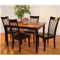 Primo International 550 5 Piece Dining Room Set - Item Number: DIN 550 BLKCHE