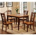 Primo International 552 Table and 4 Chairs - Item Number: 552 Walnut