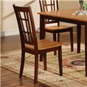 Primo International 552 Slat Back Dining Chair - Item Number: 552-CH Walnut
