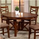 Primo International 6506 Extension Leaf Oval Table & Upholstered Side Chair Set - Oval Dining Table with Extension Leaf