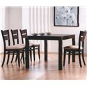Primo International 6750 Table and 4 Chairs - Item Number: DINTB 6750+4XDINCH 6750SR